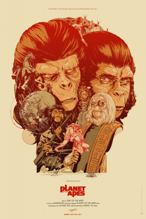Planet of the Apes Poster by Martin Ansin - Mondo