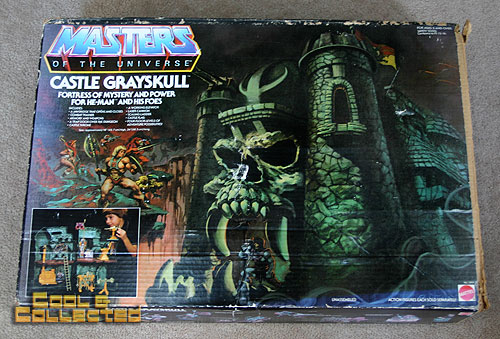 Masters of the Universe MOTU Castle Grayskull playset box