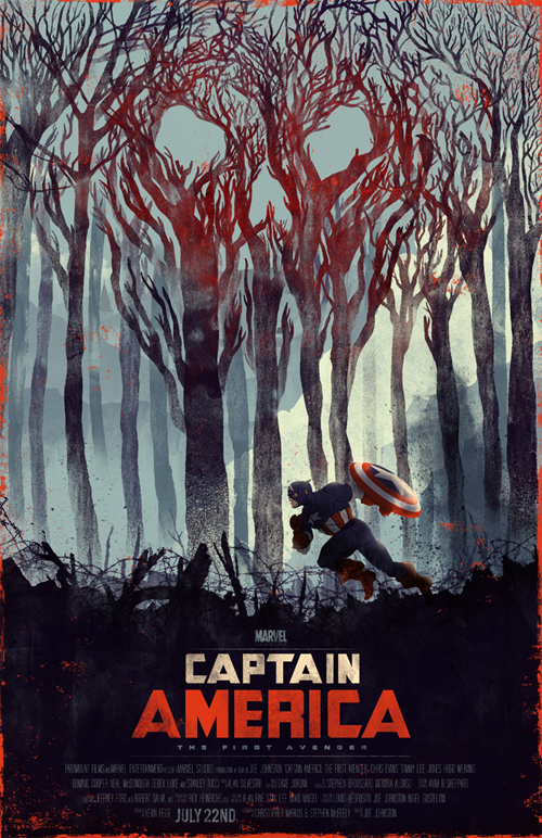 captain america poster by kevin howdeshell