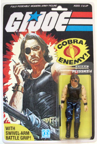 custom action figure: snake plissken gi joe