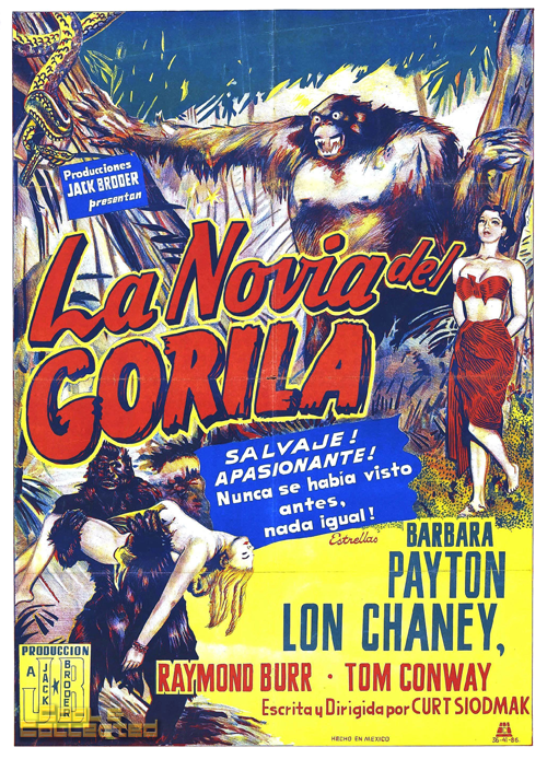 la novia del gorila movie poster 1951