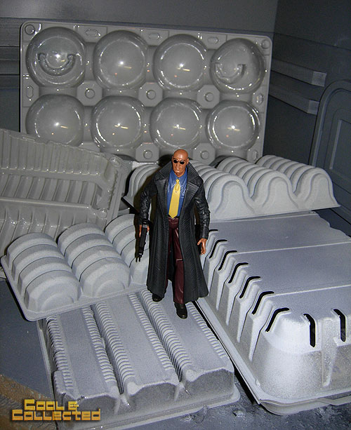 action figure photography background props