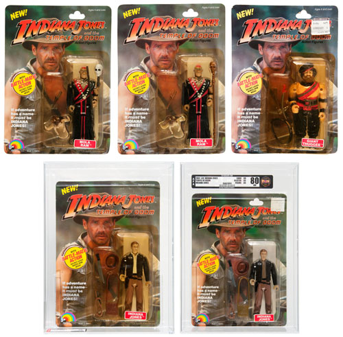 hakes LJN indiana jones temple of doom action figures collection