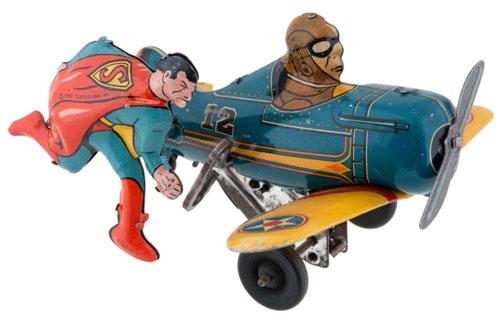 hakes marx superman windup tin plane