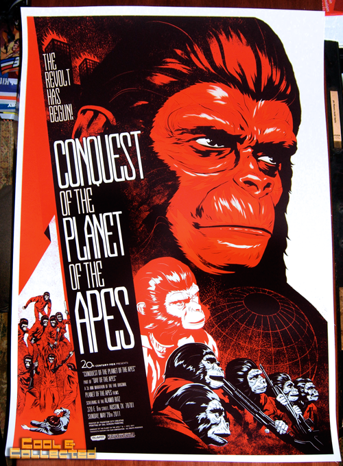 Mondo Conquest of the Planet of the Apes poster by Phantom City Creative
