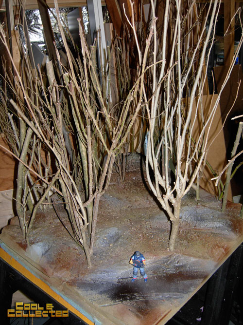diorama building tips - planting trees