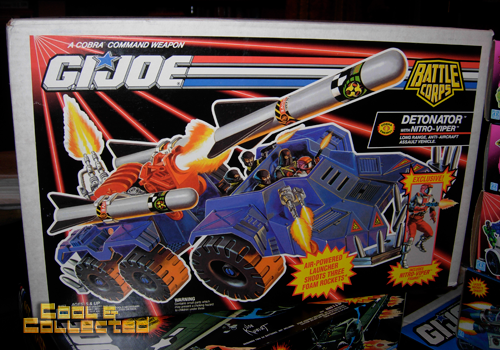 G.I. Joe action figures and vehicles collection - detonator
