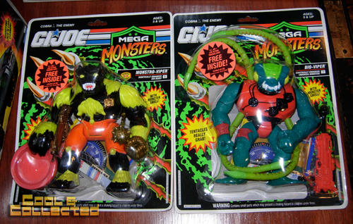 G.I. Joe action figures and vehicles collection - mega monsters