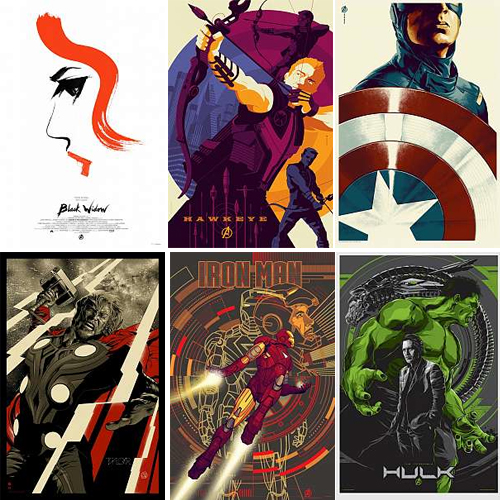 mondo avengers posters