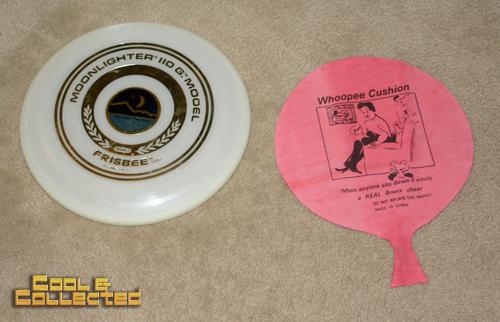 yard sale find - Wham-O Frisbee and Whoopee cushion