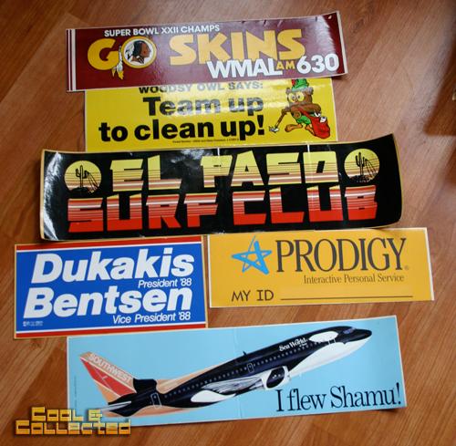yard sale finds - vintage bumper stickers
