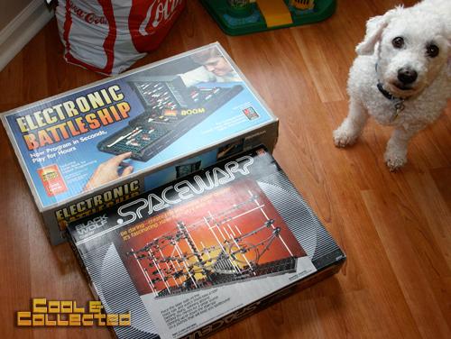 yard sale find - Electronic battleship and Spacewarp
