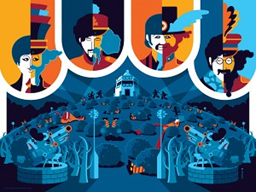 Beatles Yellow Submarine posters by Tom Whalen