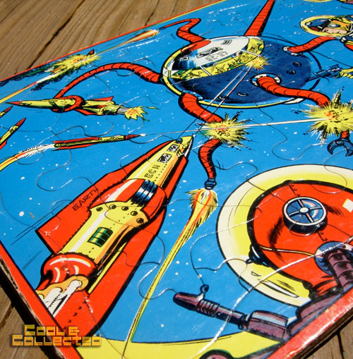 Vintage Buck Rogers frame tray puzzle - John F. Dille 1952