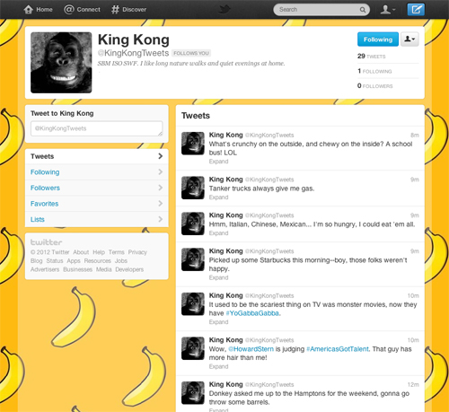 king kong tweets