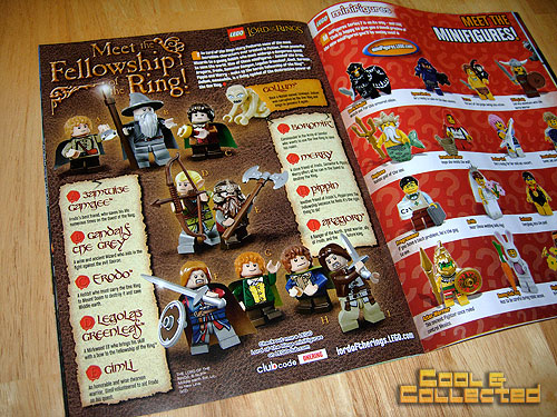 LEGO Club Magazine featuring Lord of the Rings