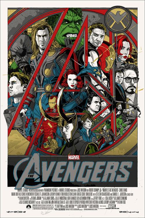 mondo avengers poster by tyler stout