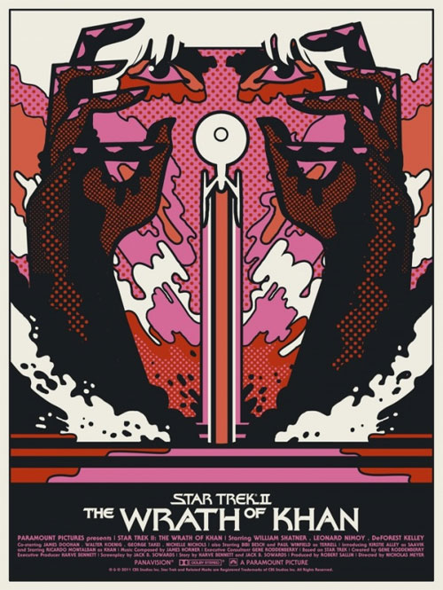 Mondo Star Trek - Wrath of Khan movie poster