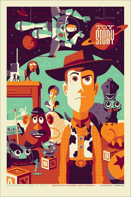 Tom Whalen Mondo Toy Story poster print