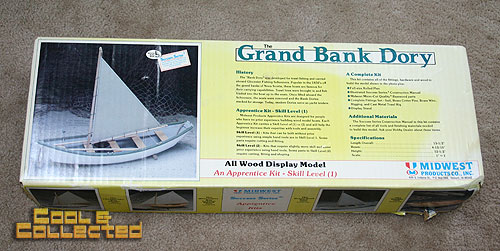 yard sale finds -- Grand bank Dory boat model kit