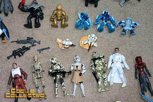 yard sale finds -- collection of Star Wars action Figures