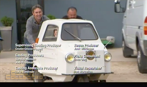 american pickers - Danielle in mini contessa car