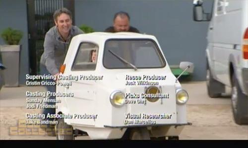 american pickers - Danielle in mini contessa car