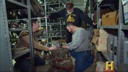 american pickers indian cutaway motor display