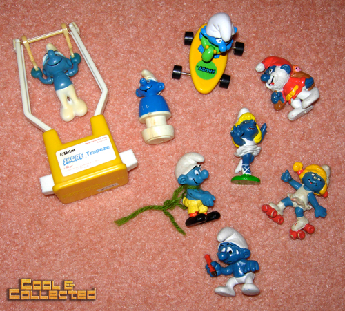 collection of Smurfs toys for sale
