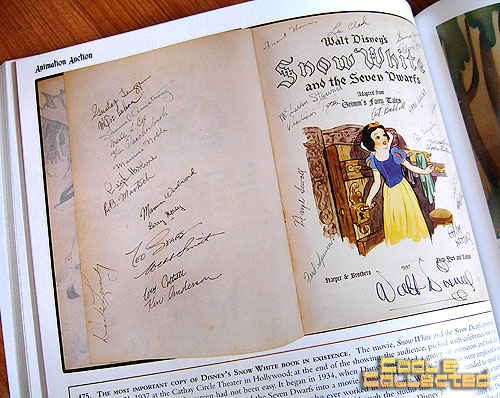 profiles in history animation auction catalog Snow White book