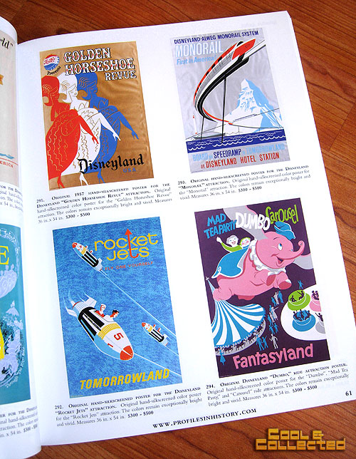 profiles in history animation auction catalog Disney travel posters