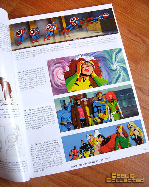 profiles in history animation auction catalog X-Men