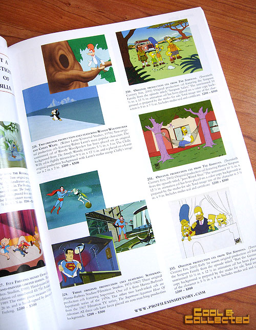 profiles in history animation auction catalog Simpsons
