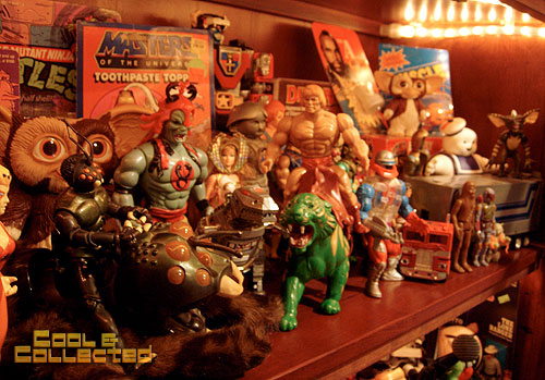 vintage 80's action figures toy collection display