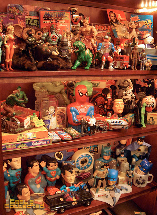 vintage toy collection display