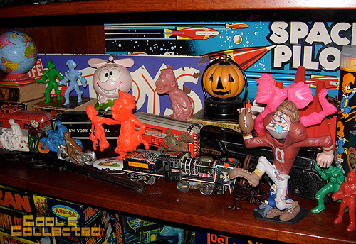 vintage toy collection - Nutty Mads and trains