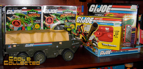vintage toy collection - G.I. Joe action figures and vehicles