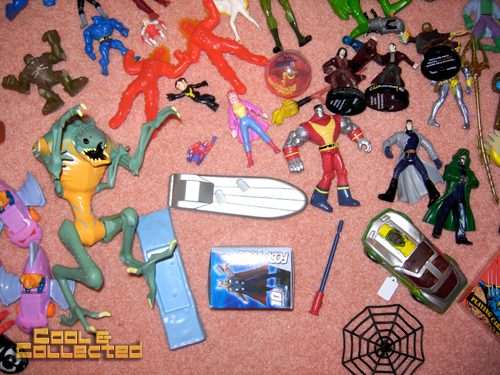 whats in the box -- Marvel action figures