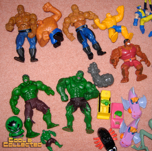 whats in the box -- hulk action figures