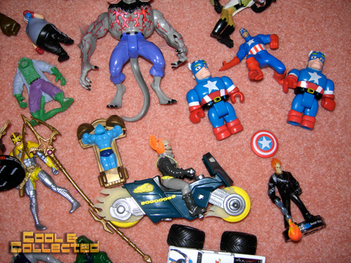whats in the box -- Captain America action figures