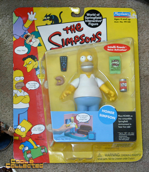 yard sale finds playmates homer simpson WOS