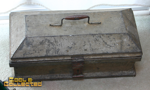 yard sale finds antique tool box