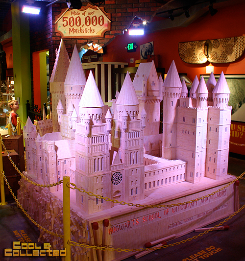 baltimore ripley's believe it or not museum elvis hogwarts made of matchsticks