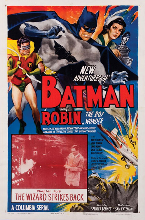 new adventures of batman and robin vintage movie poster one sheet