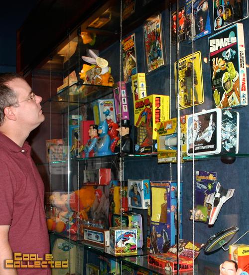 geppi's display of vintage pop culture toys