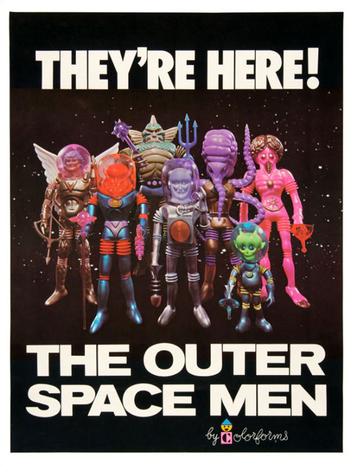 hakes outer space men colorforms poster