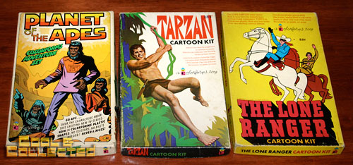 colorforms planet of the apes, tarzan, lone ranger