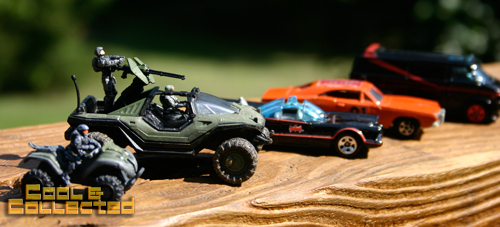 hot wheels and halo warthog and mongoose