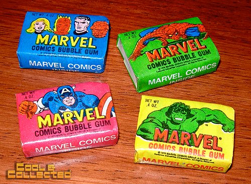 marvel comics bubble gum
