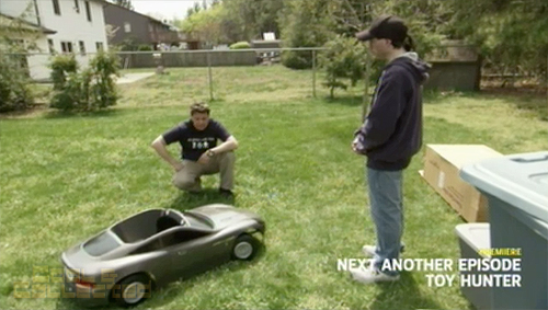 toy hunter aston martin pedal car